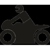 Человек на спортивном мотоцикле