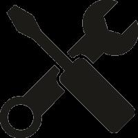 Отвертка и гаечный ключ