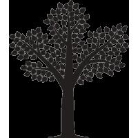 Дерево с листьями