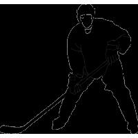 Хоккеист ожидающий подачу