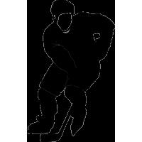 Хоккеист делающий подачу