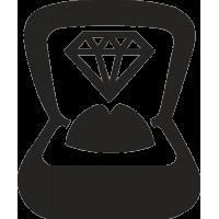 Обручальное кольцо в коробке