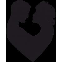Парочка Влюбленных в форме Сердца