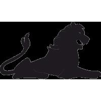 Татуировка лежащий Лев