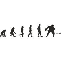 Эволюция от обезьяны до Хоккеиста