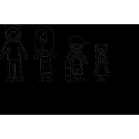 Семья - папа, мама, сын, дочь, надпись My Family