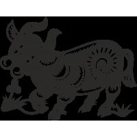 Знак китайского зодиака Бык
