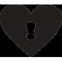 Сердце с замочной скважиной