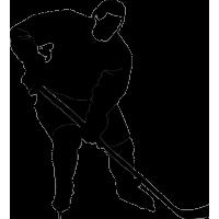 Хоккеист с клюшкой