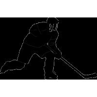Хоккеист с поднятой ногой