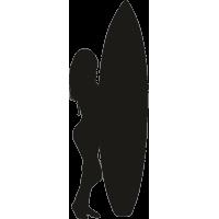 Девушка с серфовой доской