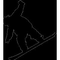 Скатывающийся со склона сноубордист