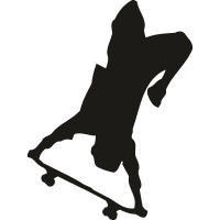 Скейтбордист стоит вверх ногами