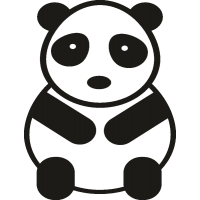 Сидящая панда