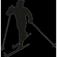 Спортсмен на лыжах