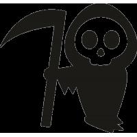 Образ Смерти с серпом на Хэллоуин