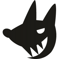Волк с большими зубами
