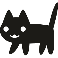 Кот с поднятым хвостом