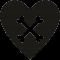 Рисунок костей на сердце