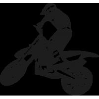 Мотоциклист с поднятым переднем Колесом