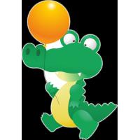 Крокодил с воздушным шариком