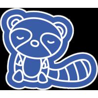 Синий енот