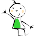 Человечек в зеленой одежде