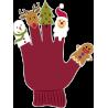 Новогодние куклы одетые на пальцы