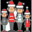 Семья в новогодний праздник