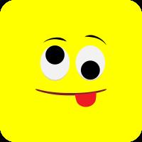 Желтый смайлик показывает язык