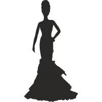 Девушка у платье