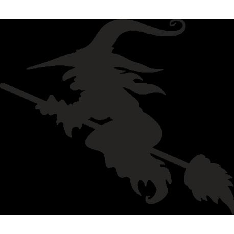 Ведьма на метле
