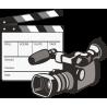 Видеокамера и хлопушка