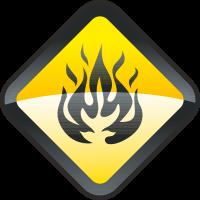 Опасно разжигать огонь
