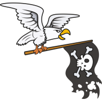 Орел с прапором пиратов