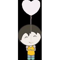 Ребенок с воздушным шариком в руках