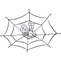 Муха на паутине
