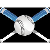 Бейсбольные биты и мяч