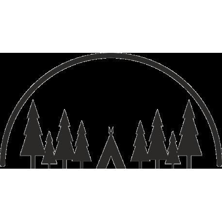 Лес и палатка