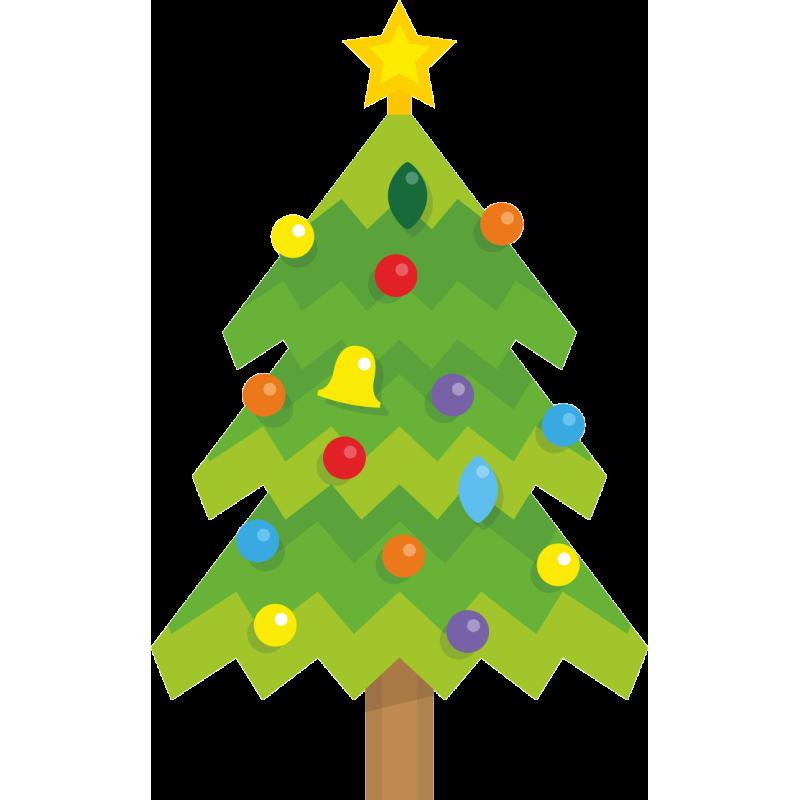 Картинка аппликация елка новогодняя
