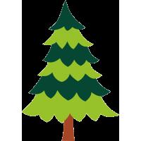 Разноцветная елка