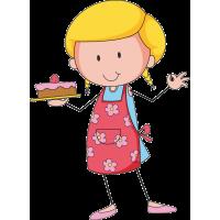 Домохозяйка с тортом