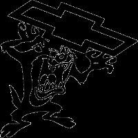 Тасманский дьявол со логотипом Chevrolet