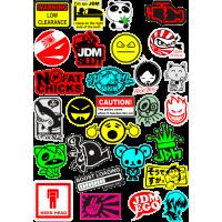 Стикерпак - набор наклеек JDM N3