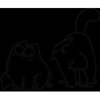Кот Саймона с кошкой