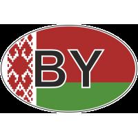 Флаг Белоруссии в овале 2