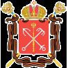 Герб Санкт-Петербурга с георгиевскими лентами