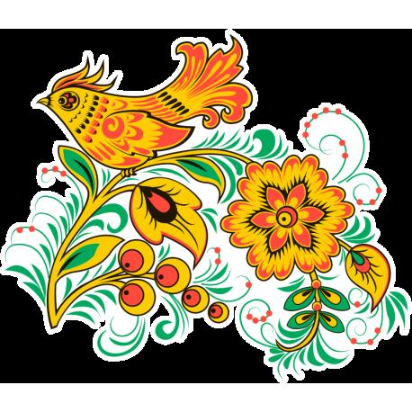 Узор. Хохлома. Русская традиционная декоративная роспись. Народный промысел.