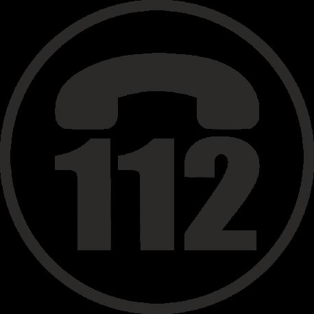 Эмблема 112 одноцветная