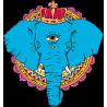Индийский Одноглазый Слон Тату